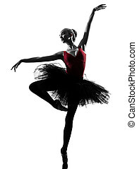 young woman ballerina ballet dancer dancing - one caucasian...