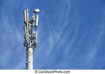 One cellular base station tower