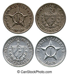 one centavo, Cuba, 1920, 1969