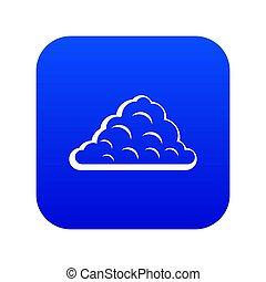 One cloud icon digital blue