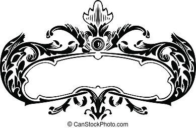 One Color Royal Vintage Curves Banner
