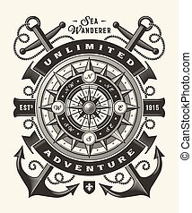 (one, color), vendange, illimité, typographie, aventure