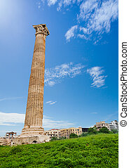 One column of Zeus temple in Athens, Greece