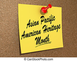 """One day Calendar with """"Asian Pacific American Heritage Month"""" on a white background"""