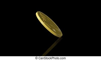 One day coin spinning - Golden coin, worth one day, slowly...