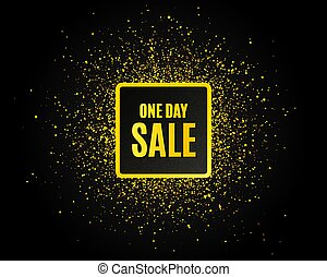 One day Sale. Special offer price sign. Vector