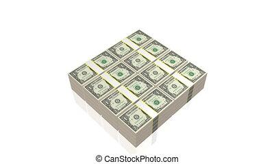 One dollar bills - $1