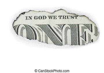 One Dollar In God We Trust