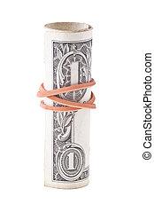 One Dollar Isolated
