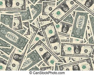 One dollars. - One dollars background.