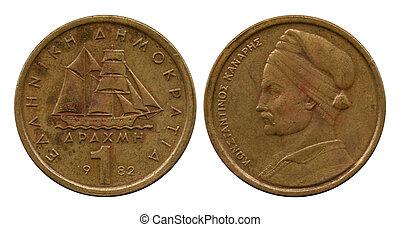 one drachma, Greece, 1982