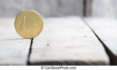 One euro coin, finance or business concept - One euro coin...