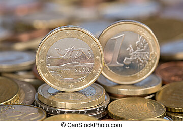 One Euro coin from Finland
