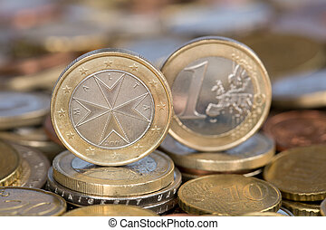 One Euro coin from Malta