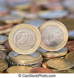 One Euro coin Greece