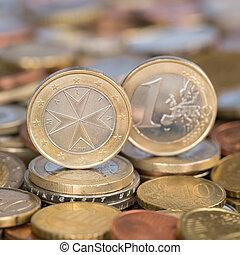 One Euro coin Malta