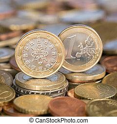 One Euro coin Portugal