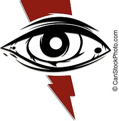 one eye cult religion sign symbol vector art