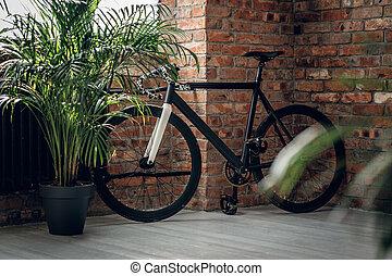 One fixed gear bike.