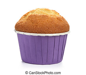 muffin isolated on white background