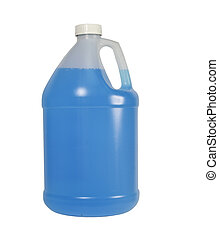 one gallon container - one gallon bottle of blue liquid...