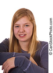 one girl - Teenager who looks sad