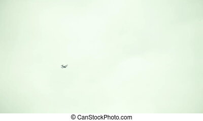 One glider flying in the sky