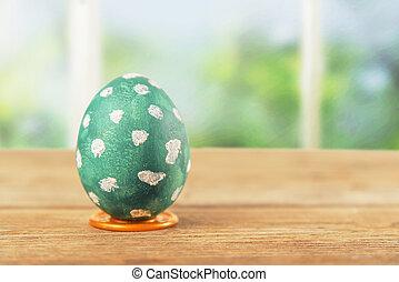 One green Easter egg