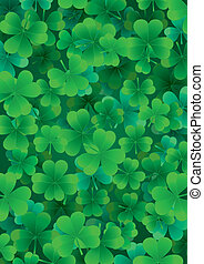 Find one Happy clover for St. Patrick`s day vector illustration