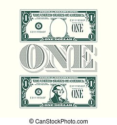 One heck of a tribute to the one dollar bill for your print or web needs.