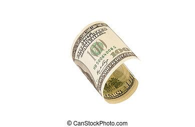 one hundred dollar bill, isolated