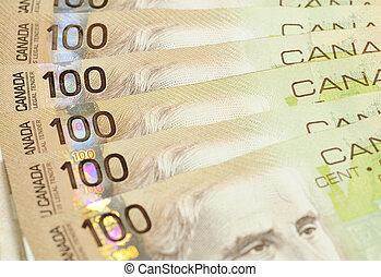 One hundred dollor - One hundred canadian dollor background
