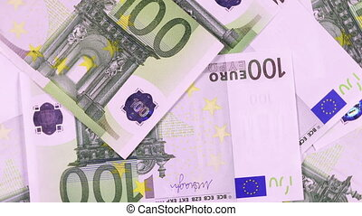 One hundred euro banknotes - Banknotes in denomination one...