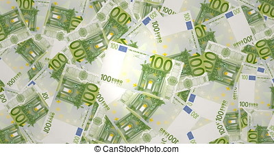 One hundred euros banknotes, cash money
