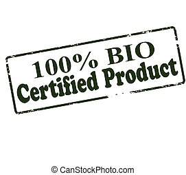 One hundred percent bio certified product