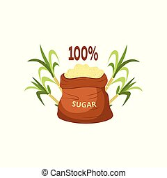 One hundred percent natural brown granulated and crystallized sugar.