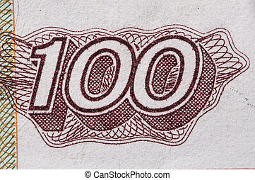 one-hundred, rouble