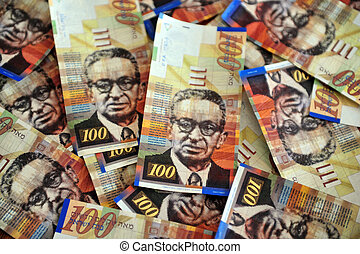One Hundred Shekel Bills - One hundred Shekels notes are...