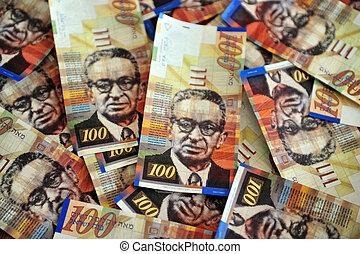 One Hundred Shekel Bills - One hundred Shekels notes are...