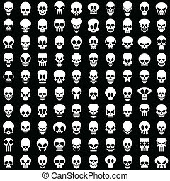one hundred skulls