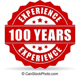 One hundred years experience vector icon isolated on white...