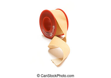 adhesive - One isolated brown medical adhesive isolated.