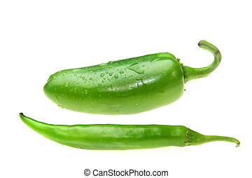 Jalapeno and green thai pepper