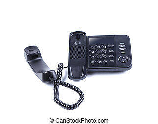 One landline phone. Isolated on a white background.