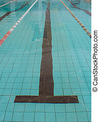 swimming pool lane lines background. Swimming Pool With Clear Blue Water Lane Lines Background