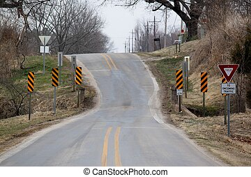 One lane crossing - This is exactly as you see it. A short ...