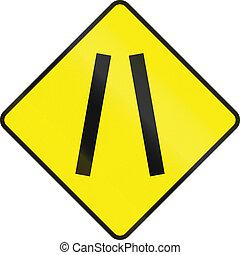 One Lane Road Ahead In Ireland - Historic Irish road warning...