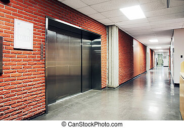 One large steel door elevator