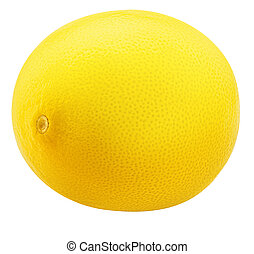 One lemon Isolated on white background