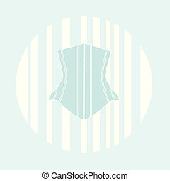 One light blue corsets on a white background